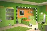 Pokój dziecka, z motywem piłki nożnej